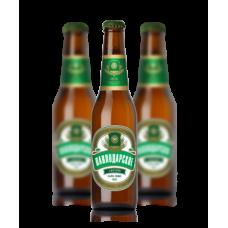 Пиво Павлодарское светлое бутылочное 0.5л