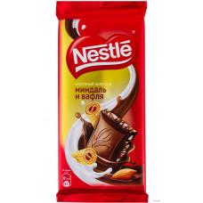 Шоколад NESTLE  миндаль вафля 90г